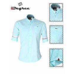 Cotton Casual Mens Stylish Shirt, Size: 40