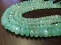 AAA Quality Natural Aqua Blue Chalcedony Far Size Beads