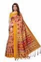 Women''s Wear Art Silk Saree With Jhalar
