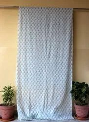 44 Inches Curtains, Design/Pattern: Hand Block Printed, Size: 44 X 84 Inches