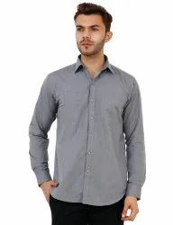 Grey Color Full Sleeve Plain Shirt