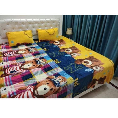 Printed Cartoon Design Flannel Bedsheets