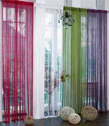 Red Cotton Designer Curtain, for Window & Door