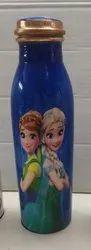 Frozen Print Copper Bottle