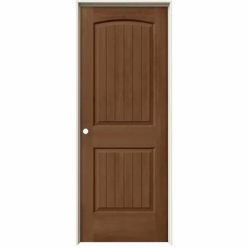 Brown Interior Hinged Antique Wood Door