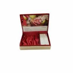 Cardboard Box Invite Wedding Card with Sweet Box