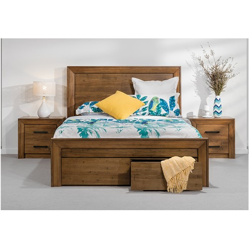 Modern Wooden Bed for Home, Size: 54 x 74 inches
