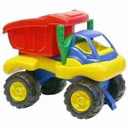 Yellow + Black Plastic Construction Engineering Toy Vehicle (JCB) Toy Truck