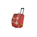 Red Polyester Designer Trolley Bags
