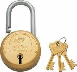 Brass Godrej Locks Navtal 6 Levers
