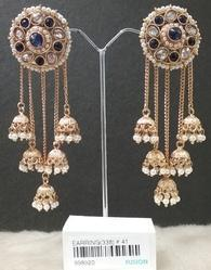 Designer Hanging Jhumka Earrings
