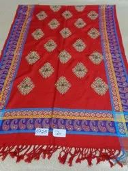 Viscose With Embroidered Butti And Border Stoles