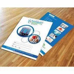 Plastic Printed L Folders, For Medical, Paper Size: A4