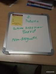 Deluxe Non Magnetic White Marker Board