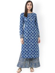Ladies Blue Jaipuri Kurtis