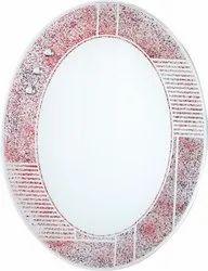 Bhari Designer Round Mirror, Thickness: 5 Mm