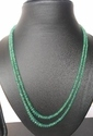 Natural Emerald Necklace 2 Line with Adjustable String