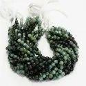 Natural Shaded Sakota Emerald Panna Faceted Cut Round Beads Strands