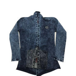 Slim Dots Small And Large Designer Denim Shrug