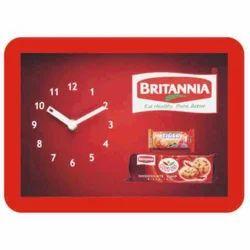 Red Plastic Arise Table Clock