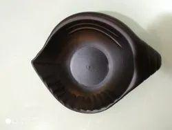 SWIFT INTERNATIONAL Plastic Shankh Chat Plate , Snack Plate, Shape: Oval, Size: 5 '' Inch