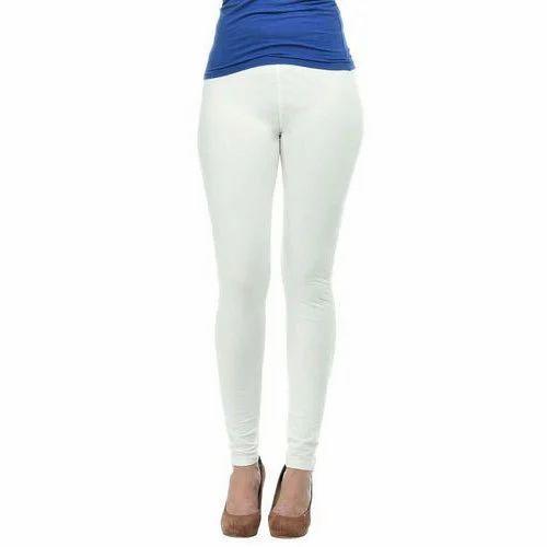 2c9246cd968a67 London Leggings White Ladies Plain Ankle Length Legging, Size: Free Size