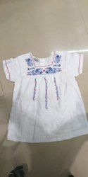 Girls Embroidered White Top