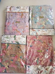 Delight Cotton Double Bed Sheet With 2 Pillow Covers  Floral Prints