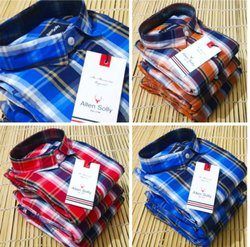 Allen Solly Cotton Mens Casual Check Shirt