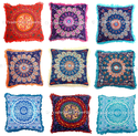 Indian Mandala Fringe Cushion Cover