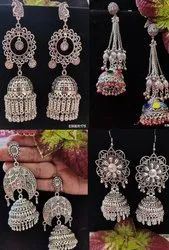 Heavy Navratri special Oxidised Earrings