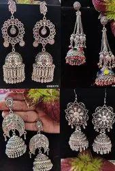 Heavy Navratri special Oxidised Earrings