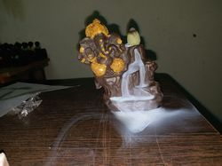 Smoke Lord Ganesha Fountain Statue