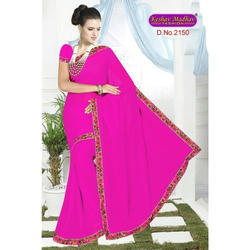 Designer Pink Saree
