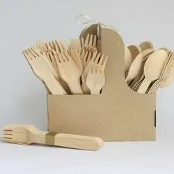 Biodegradable Wooden Cutlery Set