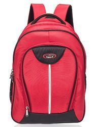 3 Compartment Large Red School Bag