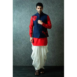 Red and Blue Qurta Jacket