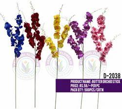 D2038 Artificial Butter Orchid Stick