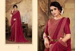 Zari Stone Embroidery Designer Sarees from Catalog Rangutsav
