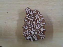 Floral Pattern Wooden Printing Blocks