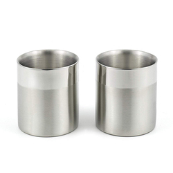 Silver Double Wall Cup