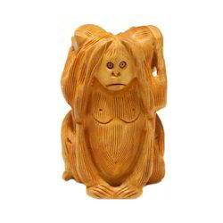 Big Wooden Monkey