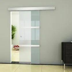 Folding Doors Pristine White Sliding Glass Door, For Home,Office Hotel, Interior
