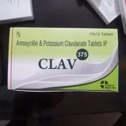 Amoxycillin and Potassium Clavulanate 375mg Tablets