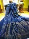 Linen jamdani Saree with blouse price