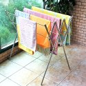 Parasnath Lotus Stainless Steel Clothes Drying Stand with Orange Caps