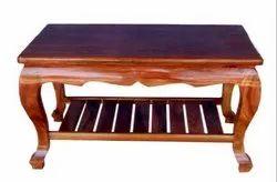 Brown Popular Wooden Center Tea Table