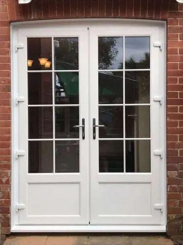 White UPVC French Door