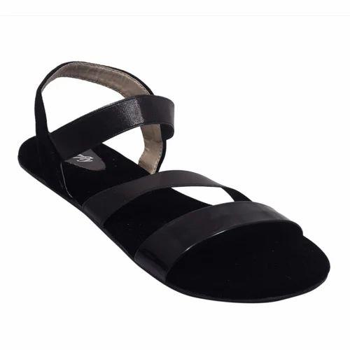 97c26300940b PU Black Trendy Women  s Velvet Touch Sandals
