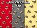 Rayon Pik N Pik Block Print Fabric